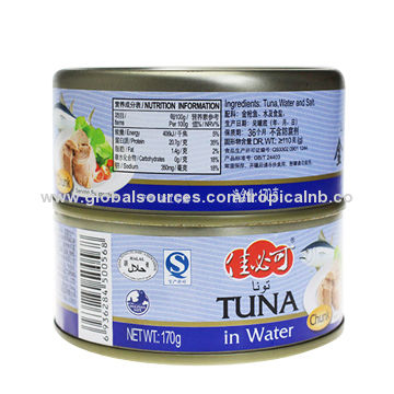 48X170g canned tuna in water HALAL, EU approved | Global Sources