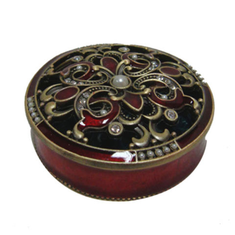 China Antique Style Small Round Metal Jewelry Box on Global Sources