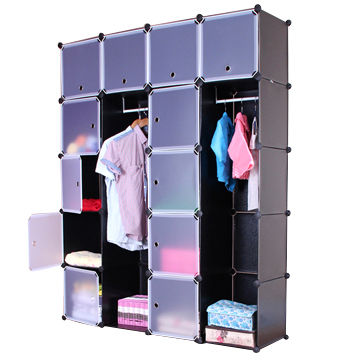 clothes diy cubic storage cabinet, made of plastic with metal
