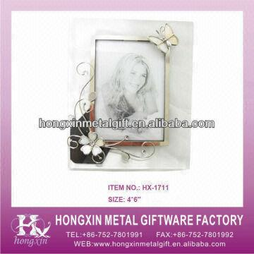 HX-1711 White butterfly glass pink photo frames | Global Sources