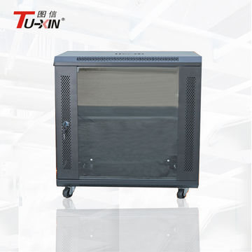 ... China Office Small Floor Standing 9ru Data Cabinet, Black Coating 9u  Network Rack With Four ...
