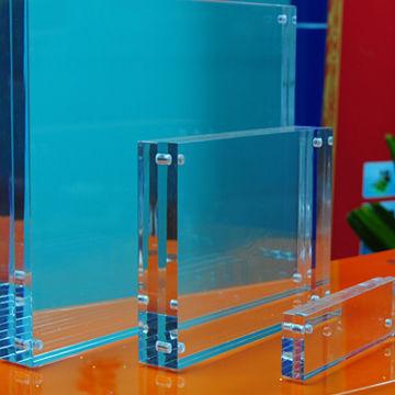 Clear acrylic photo frame, PMMA photo frame, free standing | Global ...