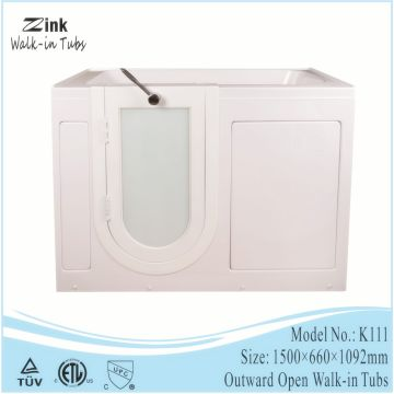 2016 zink acrylic easy step in outward open safety walk in tub ...