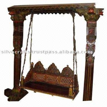 India Indian Rajasthani Jodhpur Hand Carved Wooden Swing Jhoola (indian  Antique Reproduction Furniture)