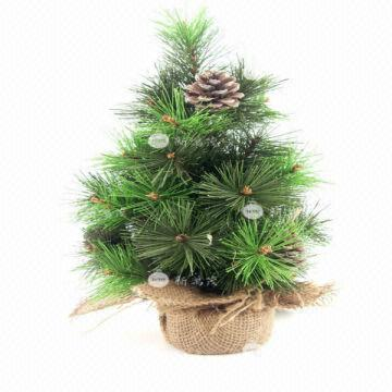 china 12 inch pine cones and needles artificial christmas tree
