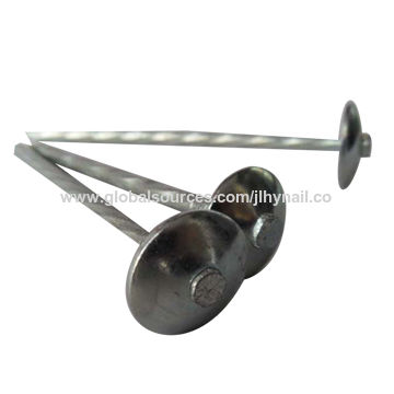 China Umbrella Head Roofing Nail With Electric Galvanized, Hot Dipped  Galvanized, Roofing Nail With ...