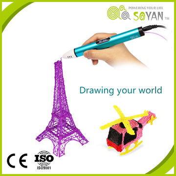 China New 3D printing pen colorful 3D pen for Chile education