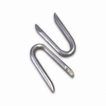China U Staple Nails with Zinc-plated Finish