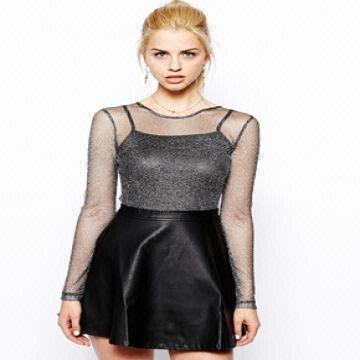 6d5813035 China New Arrival Women Sexy Leather Mini Skirt Wholesale Elegant Women Mini  Skirt