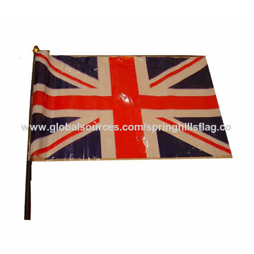 China Plastic hand stick flag of British flag design on Global Sources