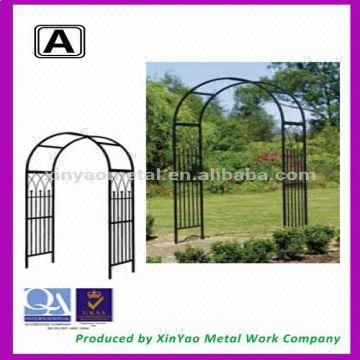 Cool Black Wrought Iron Garden Arch With Bench Outdoor Metal Squirreltailoven Fun Painted Chair Ideas Images Squirreltailovenorg