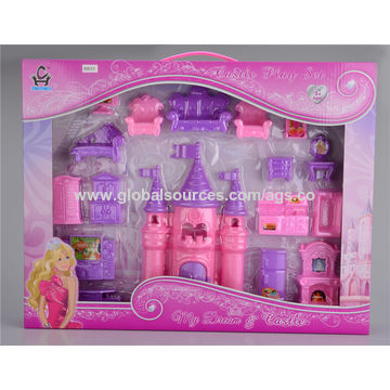 china 2016 lovelyl pink and purple castle play set a fairy world for girls - Purple Castle 2016