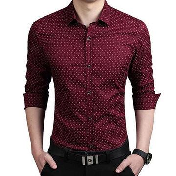 0635b452dcca China Men's long sleeved casual shirts slim fit men shirt cotton dress  shirts ...