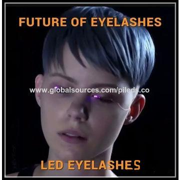 95fa58e7117 ... China Source production factory direct sales fashion lash false LED  eyelashes light for party