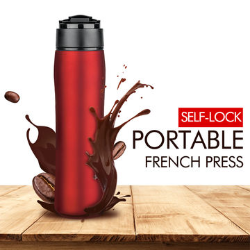 b7438d8a5da ... China Portable 350ml 304 Stainless Steel Double Wall Vacuum Sealed Travel  Coffee Maker Tea Bottle 12 ...