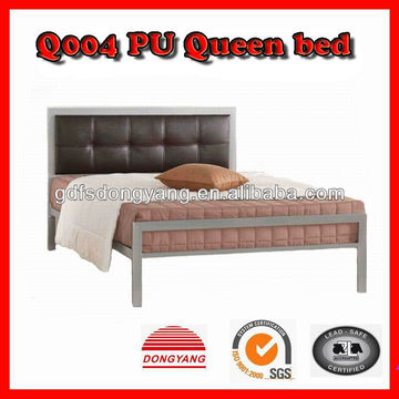 1 Double Modern Bedroom Pu Metal Bed Furniture 2 Self Lock Headboard