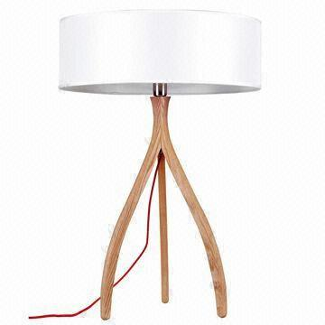 Modern table lamp with three legs made of wood global sources table lamp china table lamp aloadofball Image collections