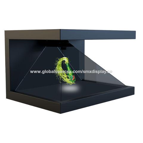 China 3-Sides 270 Degree 3D Hologram Showcase / Holographic Pyramid