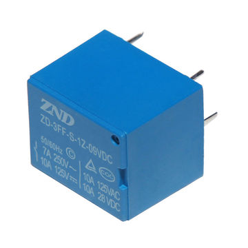 China ZND 7A/9V/5-pin Miniature Size Relay for PCB Board Use
