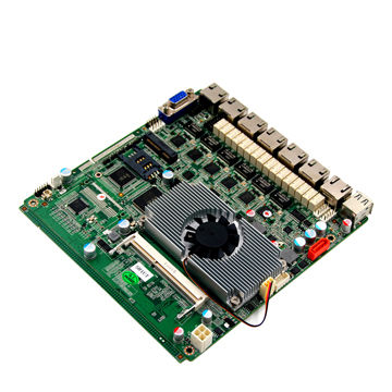 6 INTEL Gigabit Ethernet LAN motherboard with 3*RS232, 2 PIN header