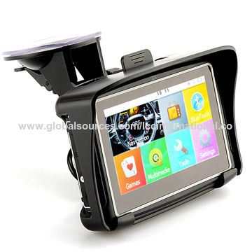 China 4.3-inch Motorcycle GPS Navigation System with IPx7 Rating 8GB Internal Memory