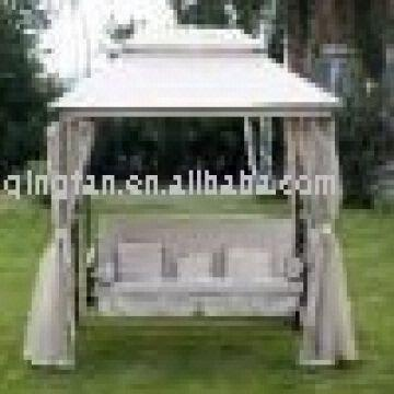 Garden Pavilion Gazebo Swing Chair Bed With Canopyqf 6325 Global