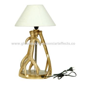 India Antique Gold Decor Deer Antler Table Top Lamp On Global Sources