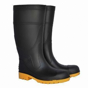 Men's Safety Rain Boots with Steel Toe, Made of PVC Material ...