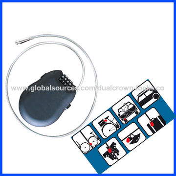 China Retractable cable lock