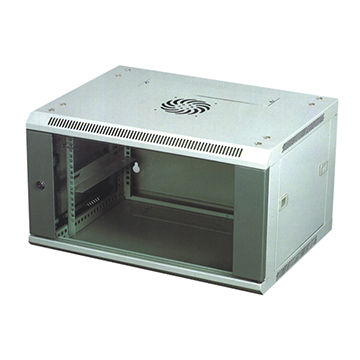China Single Section 19 Inch Network 4U Rack Mount Cabinet With Cooling Fans  ...