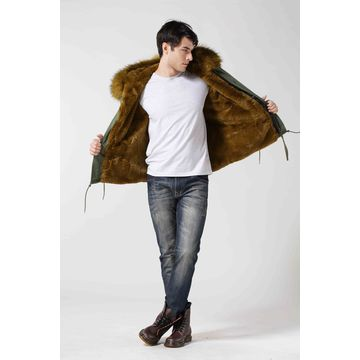 Manufacturer Men fur coat, customized sizes and colors are available