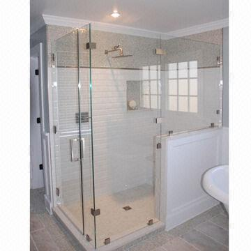 Tempered glass shower wall panel, curved or flat shapes | Global