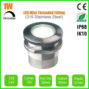 China IP68 LED Threaded Deck/Decking/Inground/Underground/Ground Light 1W 36mm  sc 1 st  Global Sources & IP68 LED Threaded Deck/Decking/Inground/Underground/Ground Light 1W ...