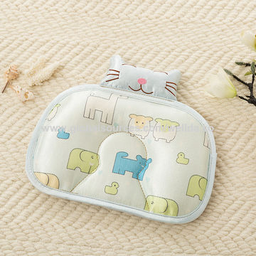 China China Supplier Organic Cotton Baby Protective Sleeping Pillow Memory Foam Baby Head Shape Pillow