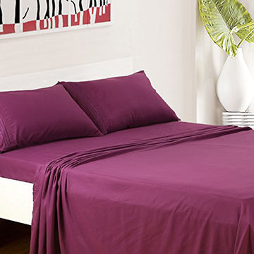 ... China Sample Welcomed Copper Infused Bamboo Cotton Bed Sheets For Home  ...