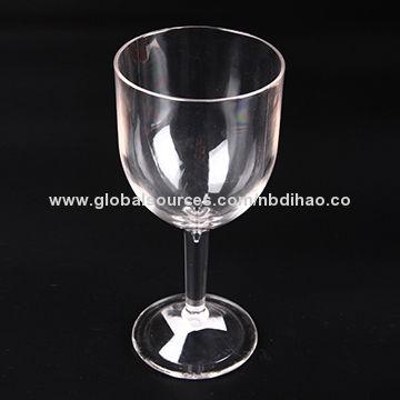 8d360611b301 9Oz and 250ml Unbreakable Plastic Wine Glasses