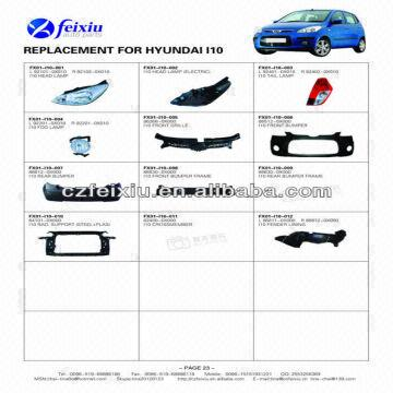 Replacement For Hyundai I10 Spare Parts Global Sources
