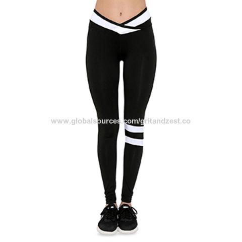 4bd527e516e71 China Yoga Leggings, High-waist Workout Running Leggings, Yoga Activewear  Pants Stripe Colorblock ...