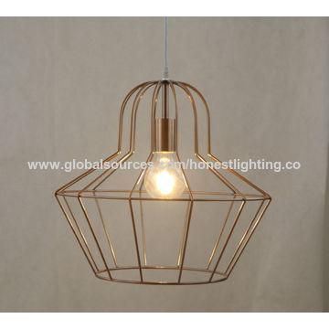 Modern simple iron cage pendant lamp china american european style modern simple iron cage pendant lamp aloadofball Choice Image