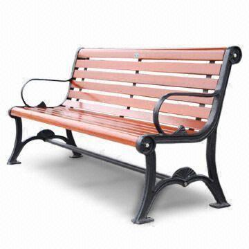 China Street Bench, Measuring 1,800 x 670 x 850mm, Made of Imported Camphor  Wood