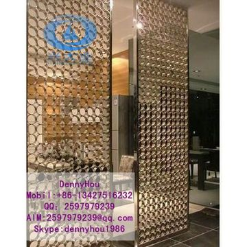 Luxury decorative stainless steel room dividers screen partition