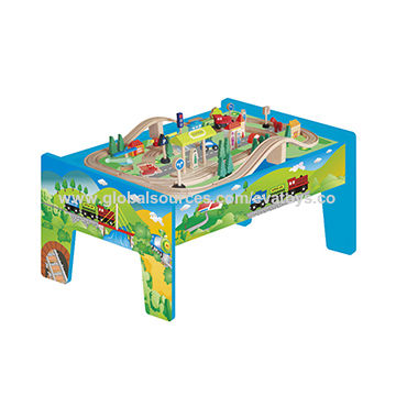 China 70-piece Wooden Train Set with Table, Measures 82.5*60*40cm on ...