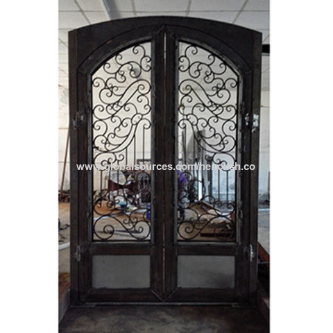 Custom Made Wrought Iron Entry Doors 72 X 108 Inches Back Model
