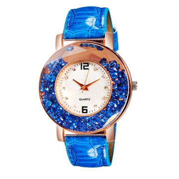 e106343206d1 China New Elegant Jewelry Women Rolling Bead Decorated Round Quartz Watch  with PU Leather Strap ...