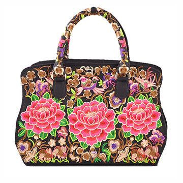 China 2017 New Embroidered Handbag Handmade Fabric Hand