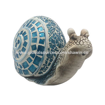 China Decorative Cement Snail Figurine Statue Crafts For Home Garden