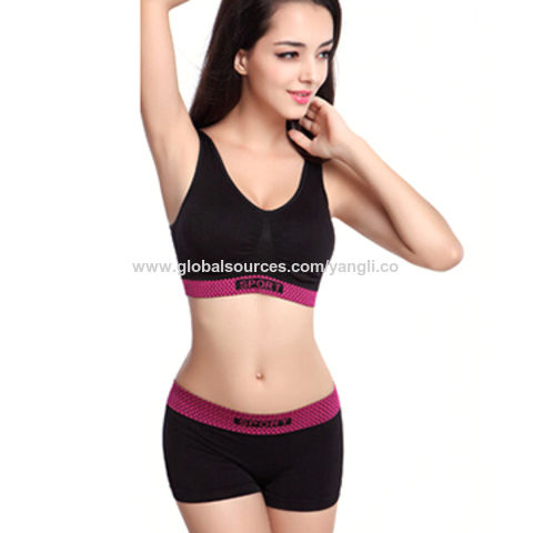7a1e577dec7a0 China New Running Shorts With Sports Bra Tank Yoga Clothing Suits Set  Fitness Clothing Vest