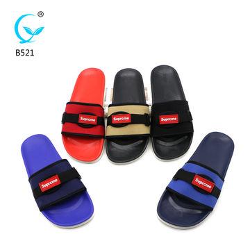a395e479a7a ... China PCU man slipper process fabric design sandals casual outdoor  slippers ...