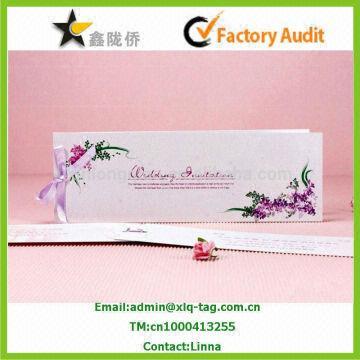 Wedding invitation card 1300gsm ivory card 2 18x11cmfold size diy invitat china wedding invitation card 1300gsm ivory card 2 18x11cmfold size 9x11cm 3 stopboris Gallery