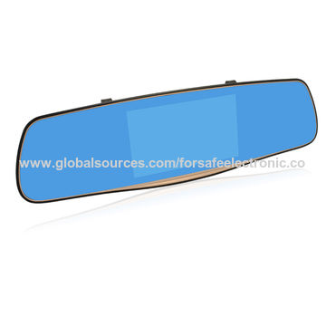 China Rear View Mirror Monitor with Built-in HD Dash Camera